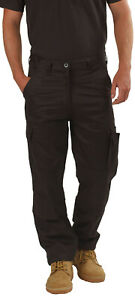 Mens Cargo Combat Work Trousers By RSW in Size 30 to 42 - Chino Pants Work Wear