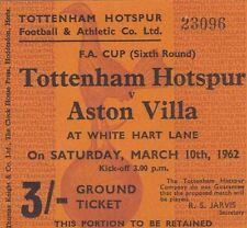 Tottenham Hotspur Football FA Cup Fixture Tickets & Stubs