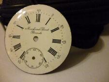 pocket watch enamel 39,4mm diameter Marchant Perret Brenets dial for antique