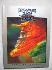 Brickyard 400 August 1995 Indianapolis motor speedway Racing program NASCAR