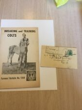 1947 Horse Training Colts Booklet Long Island New York Postcard Yaphank NY Rare