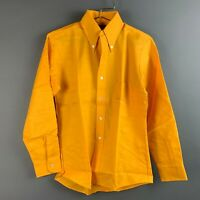 Vintage Sears Kings Road Shop Yellow Long Sleeve Deadstock Shirt Small 14 14.5