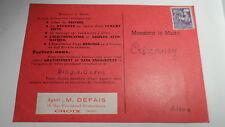 Carte publicitaire - BODET - Timbre pré-oblitéré type coq gaulois - YT po 109