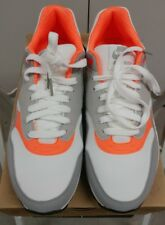 2010 Nike Air Max 1 WHITE COOL GREY TOTAL ORANGE OG DAY 308866-106 NEW 9.5*****