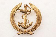 Insigne de casquette dorée (Fixation à lamelles) (Hauteur:5 cm)