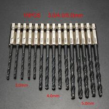 "15pcs HSS High Speed Titanium Coated Drill Bit Set 1/4"" Hex Shank 3-5mm Tools"