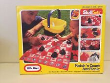 Little Tikes Match 'n Count Ant Picnic Basket 1996 Skill Sets Checkers, Memory