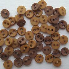 6 mm Mini Pulsanti-Tiny per bambole Artigianato Scrapbooking-Misto Nero Natale PASTELLI