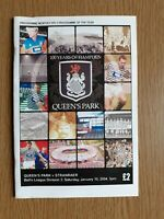 Queens Park v Stranraer Scottish League Division 3 Saturday 10th January 2004