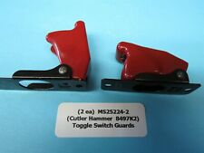 (2) New Military Standards Aircraft Switch Guards Ms25224-2 Cutler Hammer 8497K2