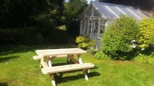 Heavy Duty Garden Picnic Table / Pub Bench 1.5M/5ft *NO Self Assembly required*