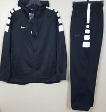 NIKE ELITE STRIPE BASKETBALL SUIT HOODIE + PANTS BLACK WHITE RARE NEW (XL / 2XL)