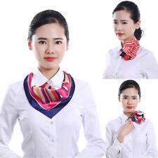 Soft Women's Print Wrap Bandanas Shawl Stewardess Neckerchief Square Silk Scarf