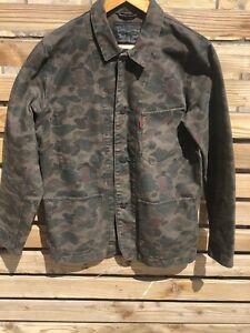 "Vintage Style Levis  Frogskin Camo Chore coat  Sack Jacket  M - L  42"" - 44"""