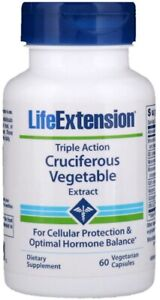 Life Extension Triple Action Cruciferous Vegetable Extract Cell Support 60 Caps