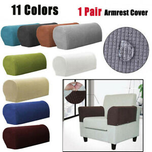 Sofa Armchair Covers Stretch Chair Arm Protector Cover Couch Recliner Armrest UK
