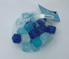 Eco Friendly Go Green 30 Reusable Beverage Ice Cubes Blue Teal White