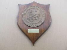 Vintage Usn Us Navy Brass Ship Plaque Uss Franklin D Roosevelt Cva 42 - Military
