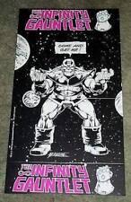 1991 Marvel Comic Infinity Gauntlet Thanos Avengers war movie villain promo card