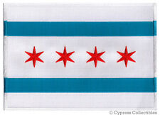 CHICAGO CITY FLAG PATCH embroidered iron-on LARGE EMBLEM ILLINOIS COOK COUNTY
