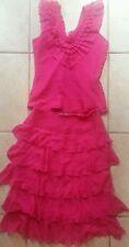 Div of junction west 100% silk top skirt set size 4