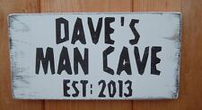 Man Cave Personalised Sign Shabby Vintage Chic Man Can Plaque Gift Idea 10x8