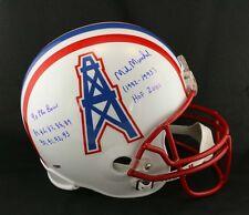 Mike Munchak SIGNED Houston Oilers Riddell F/S Helmet PSA/DNA AUTOGRAPHED
