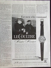 1958 LeCoultre Master Mariner Watch Advertisement