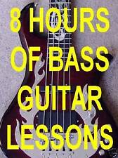 8 Hours Bass Guitar Lessons Beginner Country Rock Blues All On 1 Computer Disk.