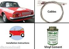 Alfa Romeo Spider 71 - 94 convertible Soft Top Kit (DIY) Do It Yourself