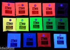 Ultra Fluorescent UV blacklight reactive glow Pigment Powder. Choose colour. 20g