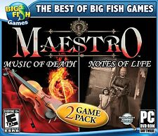 Maestro 2 Pack PC Music of Death & Notes of Life PC Games Window 10 8 7 Computer