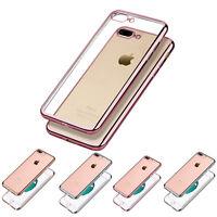 Silikon Schutzhülle iPhone 7 / 8 TPU mit Farbige Alu Rand Case Cover Bumper Etui