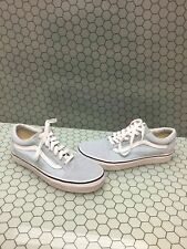 VANS Old Skool Baby Blue Canvas/Suede Lace Up Skate Shoes Men Size 6  Womens 7.5