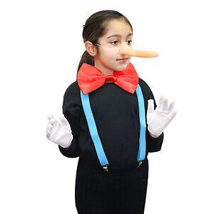 Kids / Adults 4pc Pinocchio Long Nose Fancy Dress Costume (WORLD BOOK DAY WEEK)
