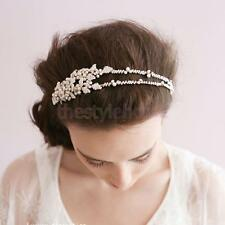 Bridal Handmade 2-layer Pearls Crystal Head Band Hairband Hair Accessory