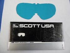 BIN12:D 06-122 09-0380-01-0 SCOTT REPLACEMENT LEXAN LENS BLUE AMP FOR VOLTAGE R