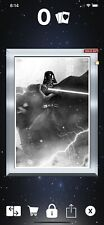 Silver Gilded Darth Vader Fight For The Galaxy B&W (2CC) Topps Digital Only