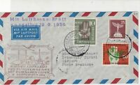 Germany 1956 1st Flight Lufthansa Slogan Airmail-Istanbul Stamps Cover Ref 27221