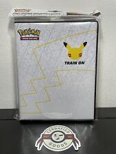 Pokemon Jumbo Pikachu Promo Card Binder 25th Anniversary Stamped Base Set 58/102