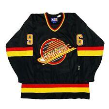 Vtg Rare NHL Vancouver Canucks #96 Bure Starter Hockey Jersey. Mens Large