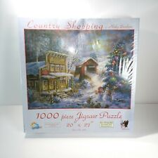 "Country Shopping christmas themed by Nicky Boehme 20"" x 27"" 1000 Pc Puzzle"