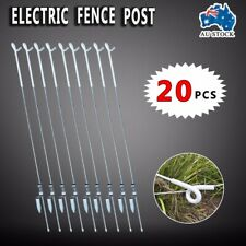 20x Tread-in Insulated PIGTAIL POST - Strip Graze Electric Fence Poly Rope Tape