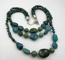 Jay King Desert Rose Trading Dtr Sterling Turquoise Graduated Necklace 20""