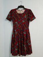 LULAROE Women's Dress Scoop Neck Short Sleeve Floral Print Multicolor. Size M