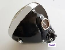 BLACK LUCAS SSU700U HEADLIGHT ASSEMBLY 7 INCH FOR MOTORCYCLE