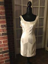 Kenar  Dress 14 White Harlequin Sleeveless With Tags