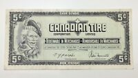 1974 Canadian Tire 5 Five Cents CTC-S4-B-TN Circulated Money Banknote E127