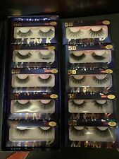 FALSE STRIP LASHES 10 PRS ASSORTED MINK 5D LONG GIFT PRESENT GLAM PARTY XMAS