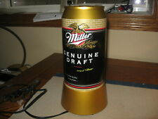 Circa 1990s Miller Genuine Draft Advertising Beer Can Light Up Motion Lamp